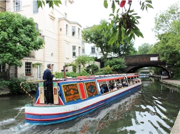Camden Canal Cruise & Fish 'n' Chips, London